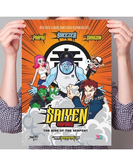 Poster Saiyen Vapors A3